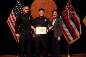 PHOTO (with Police Chief Louis Kealoha and Police Commissioner Cha Thompson)